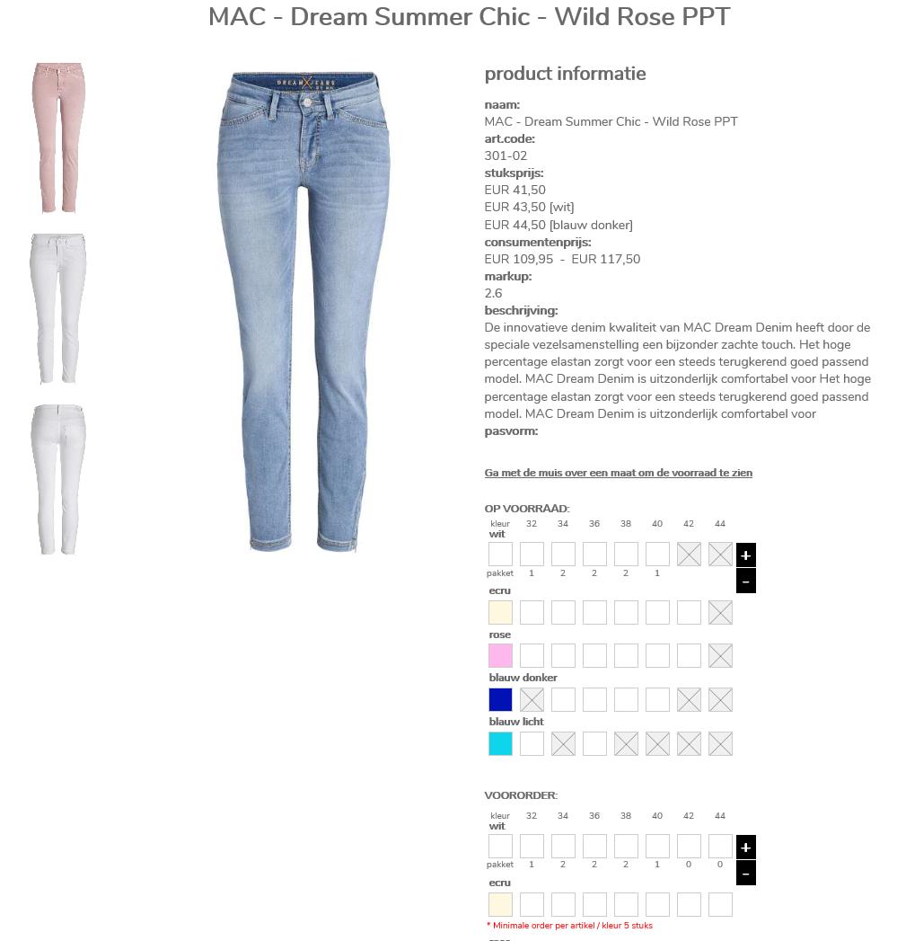 b2b webshop kleding